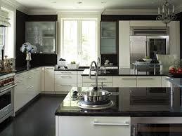Black White Kitchen Designs White Kitchen Cabinets With Black Countertops Kitchens Designs Ideas