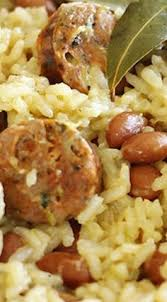 Image result for picture of brazilian rice and beans with sausage