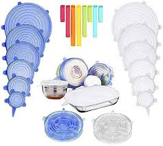 qingtang37 Food-Grade <b>Silicone</b> Six-Piece <b>Fresh</b>-Keeping <b>Lid</b> ...