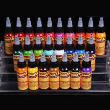 <b>16 Colors 30ml</b> Tattoo Ink Pigment BAODELI Lasting Complete ...