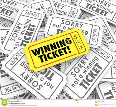 raffle prizes clipart clipart kid one winning ticket on pile of losing entries in lottery or raffle for