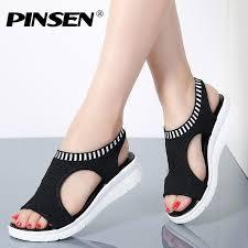 PINSEN <b>Women Sandals</b> 2020 New <b>Female</b> Shoes <b>Woman</b> ...