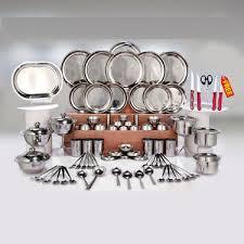Buy Kitchen Queen 81 Pcs <b>Stainless Steel Dinner Set</b> + Free Knife ...