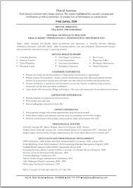 certified dental assistant resume template certified dental assistant resume
