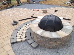 henry patios traditional patio techo bloc valencia fire pit with double hera onyx black border amp pa