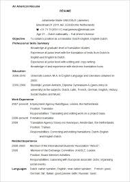 microsoft word resume template –    free samples  examples    sample american resume template