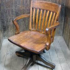 vintage office chair oak antique oak office chair