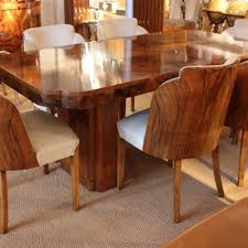 art deco dining table and chairs art deco dining suite