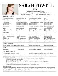 examples of a theatre resume best resume and letter cv examples of a theatre resume theatre resume guidebook pace university image theater audition resume pc