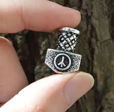 1pc <b>High Quality Weight</b> Viking Runes Hammer Beads for Bracelets ...