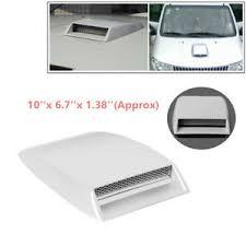 <b>Car Decorative</b> Air Flow Intake Scoop ABS Hood <b>Aluminum</b> Grille ...