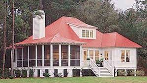 Tidewater Low Country House Plans   Sunset House PlansBermuda Bluff Cottage SL