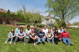 Group Picture from Graduation Party for Elad Gilboa  Peng Yang  and Xiaoxiao Xu  May          Electrical   Systems Engineering   Washington University in St  Louis