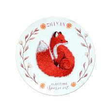 <b>1PC Animal</b> Red Fox <b>Patches Clothing Embroidery</b> fashion clothes ...