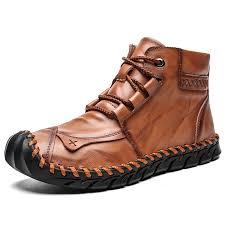 <b>SENBAO Men's Autumn Winter</b> Lace Up Mid-high <b>Boots</b> Hand ...