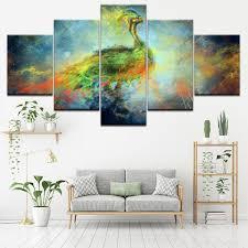 Canvas Wall Art <b>Modular</b> Frame Prints <b>Pictures 5 Pieces</b> Natural ...