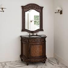 ronbow leonie bathroom vanity  demilune sink chest bathroom vanity