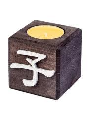 <b>Свеча</b> с символом дети, цвет эбен, аромат манго QRONA ...