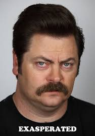 Many Faces of Ron Swanson: Exasperated #RonSwanson ... via Relatably.com