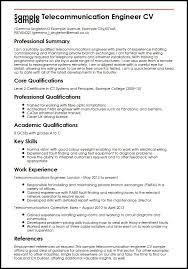 sample telecommunication engineer cv sample telecom resume examples