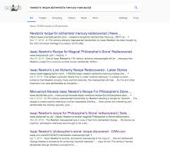 isaac newton darin hayton results from a google search for newton s recipe alchemist s