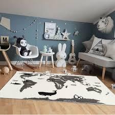 <b>Multifunctional Animal Pattern</b> Baby Kids World Map Game Mat ...