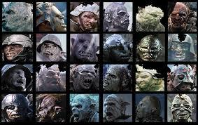 Mordor orc faces