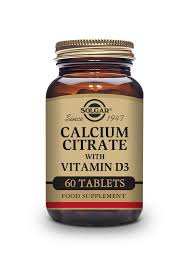 <b>Calcium Citrate with</b> Vitamin D3 Tablets - Pack of 60 | <b>Solgar</b> ...