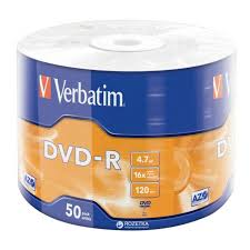 Verbatim DVD-R 4.7 GB 16x Wrap 50 шт (43788). Цена ... - ROZETKA