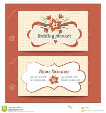 Wedding Planner Business Card Stock Vector   Image           Template business cards for wedding planner or Royalty Free Stock Photo