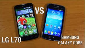 LG L70 vs Samsung Galaxy Core Сравнение - YouTube