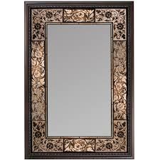 bathroom mirror with floral ornate frame bathroom mirrors