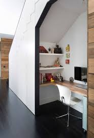 10 small home office ideas this desk tucked under the stairs features a wrap around alcove office