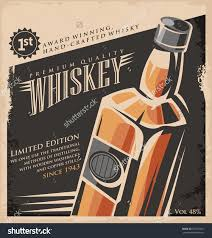 whiskey vintage poster design template retro stock vector whiskey vintage poster design template retro drink creative promotional ad concept on old paper texture