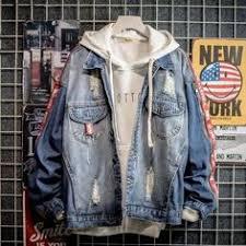 Casual Bomber <b>Hip Hop Retro</b> Denim Jacket and Coat   Denim ...