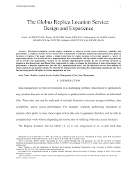 (PDF) The Globus <b>Replica</b> Location Service: Design and Experience