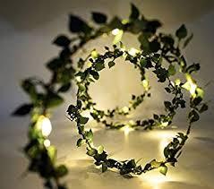 Buy Glimmer Lightings <b>Green Leaf</b> Garland <b>Decoration</b> LED Rice ...