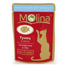 <b>Пауч Molina</b> для кошек Тунец в желе, 100г — купить в интернет ...