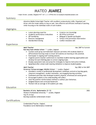 sample cv teacher uk teacher cover letter examples
