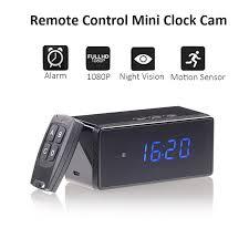 <b>Remote Table Clock</b> Mini Camera WiFi <b>1080P HD</b> IP IR CUT ...