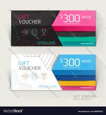 gift voucher design template vector image by graphixmania image gift voucher design template vector image