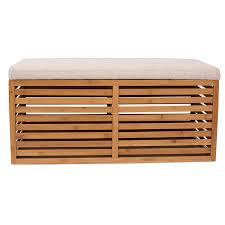 Bamboo <b>Storage Bench</b> and Ottomans <b>Set</b> - <b>Set</b> of 3 | BirdRock Home