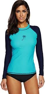 <b>ATTRACO Women's</b> Long-Sleeve <b>Rashguard</b> UPF 50+ Swimwear ...