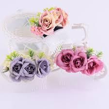 <b>CXADDITIONS Rose</b> Hair Comb Ties Hair Sticks <b>Flower</b> Crown ...