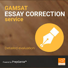 gamsat essay correction service  detailed evaluation   prepgenie gamsat essay correction service