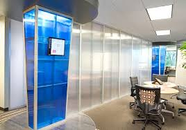 office accent walls partitions blue office walls