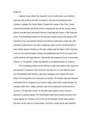 intro to political theory essay    essay  judicial review   pages intro to political theory essay