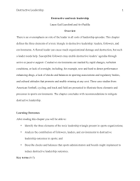 academic paper pdf destructive and toxic leadership