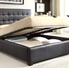 luxurious black leatherette upholstery storage bed platform design beds 2016 india bed designs latest 2016
