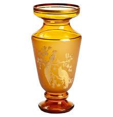 """Ваза для цветов 32 см янтарная """"Райские птицы"""" / 152793 купить ..."""
